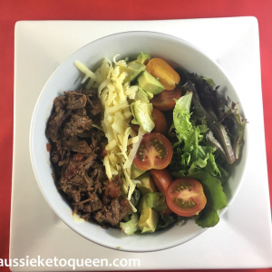 Slow Cooked Mexican Beef Fajita Salad