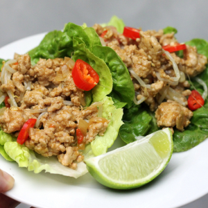 Keto San Choy Bow - Chinese Mince in Lettuce Cups