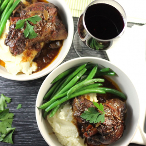 Keto Lamb Shanks Slow Cooked, Cauli Mash & Green Beans