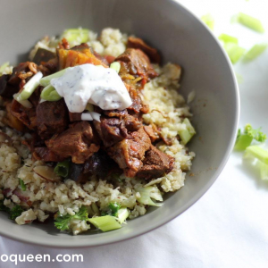 Keto Moroccan Stew with Keto Couscous
