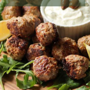 Greek Lamb Keto Meatballs