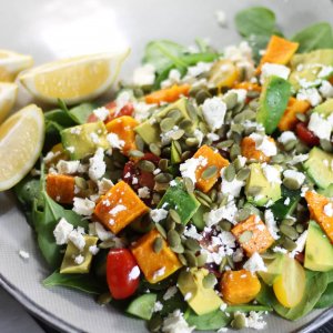 Keto Salad Heaven - Pumpkin and Feta Salad