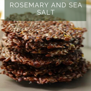 Crispy Keto Crackers - Rosemary and Sea Salt