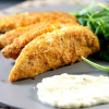 Oven Baked Crispy Keto Chicken Tenders With Parmesan Mayonnaise