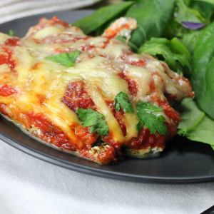 Spinach and Ricotta Keto Vegetarian Lasagna