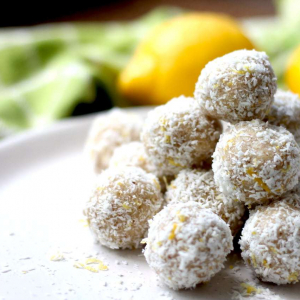 Keto Bliss Balls - Lemon and Coconut