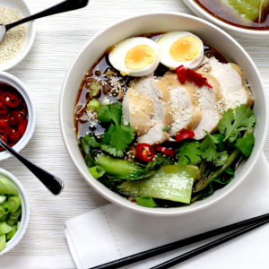 Easy Keto Chicken Ramen - Japanese Noodle Soup