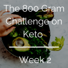 800 Gram Challenge On Keto - Week 2 (and week 1 review)