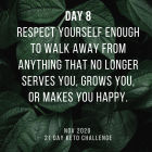 Day 8 of the 21 Day Keto Challenge November 2020