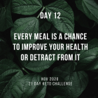 Day 12 of the 21 Day Keto Challenge November 2020