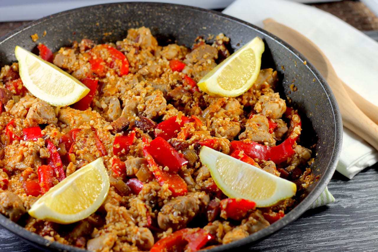 Chicken & Chorizo Cauliflower Keto Paella