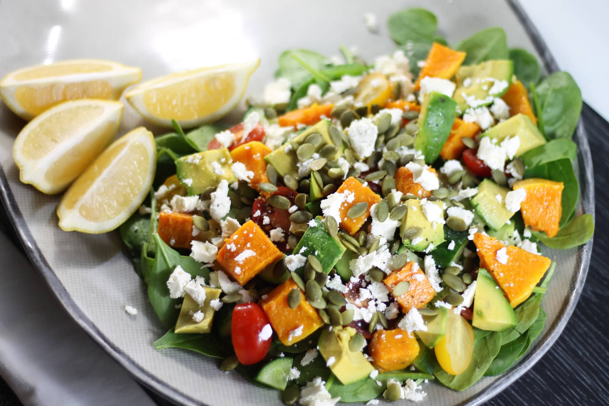 Keto Salad Heaven – Pumpkin and Feta Salad