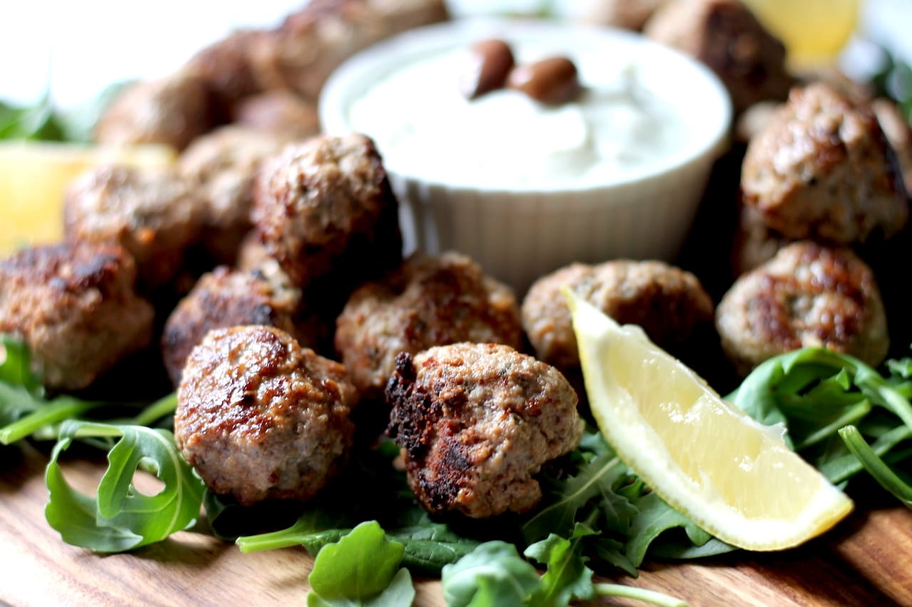 Greek Lamb Keto Meatballs by Aussie Keto Queen. A quick and tasty dish, perfect for a speedy weeknight meal or simple weekend lunch. Classic greek flavours of oregano and lemon pair with lamb for the perfect bite size snack.