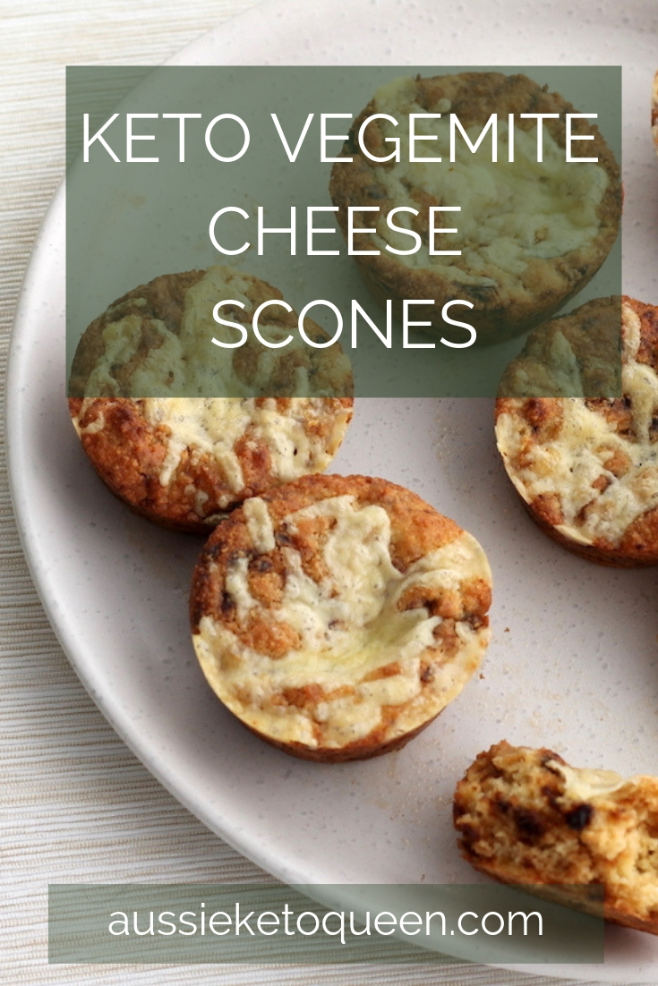 Keto Vegemite and Cheese Scones are the perfect savoury snack on the keto diet! They taste just like Vegemite on toast and are a simple and easy keto snack, great for lunches.