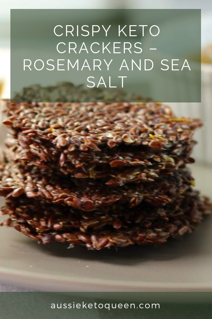 Crispy Keto Crackers – Rosemary and Sea Salt