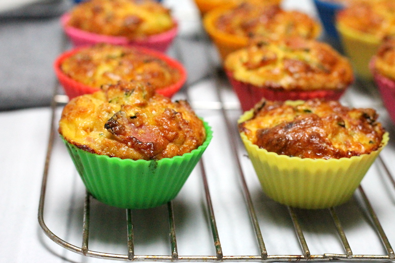 Keto Ham and Zucchini Muffins are the perfect savoury breakfast or easy keto lunch idea! Parmesan cheese gives them a crispy top and they are ready so quickly.