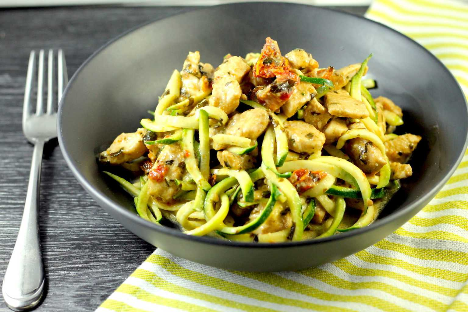 Keto Pesto Chicken with Zucchini Noodles