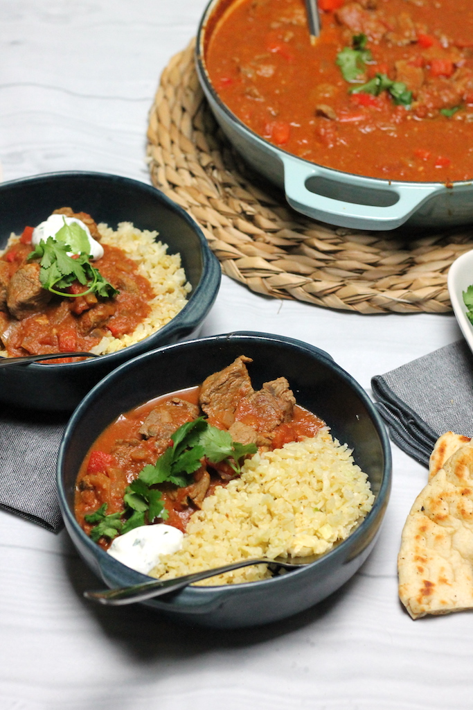 Keto Rogan Josh by Aussie Keto Queen is easier to make than you think! Using beef or lamb, this rich sauce can be spicy or mild but is always rich, warming and filling - perfect for a cold night. Keto Curries are best served with cauliflower rice and Keto naan bread for a real Keto Indian feast!
