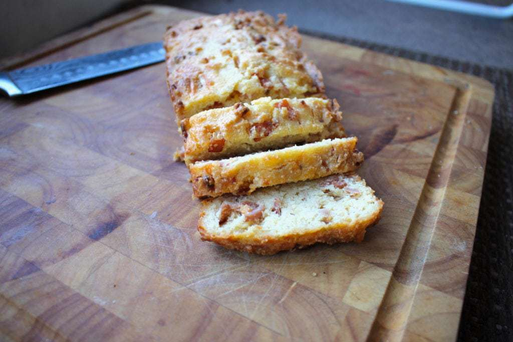 Keto Cheese and Bacon BreadKeto Cheese and Bacon Bread by Aussie Keto Queen. This loaf has all the best things about keto, loaded with bacon and cheese, eggs and almond flour. Tasty keto cheese and bacon bread is so easy to make, and is a perfect keto snack, breakfast on the go and is freezer friendly. One of the most easy Keto meals you can try! #keto #ketogenic