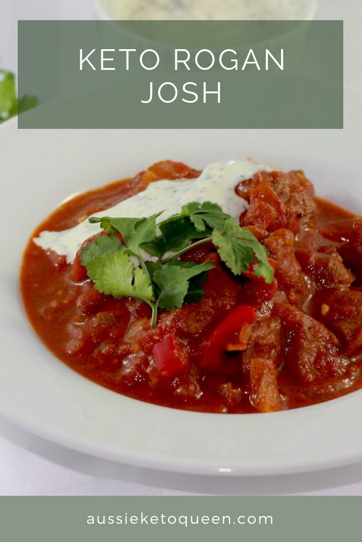 Keto Rogan Josh is a delicious easy Indian Keto meal, perfect for the whole family and full of delicious Keto flavours. #keto #ketogenic #ketorecipes