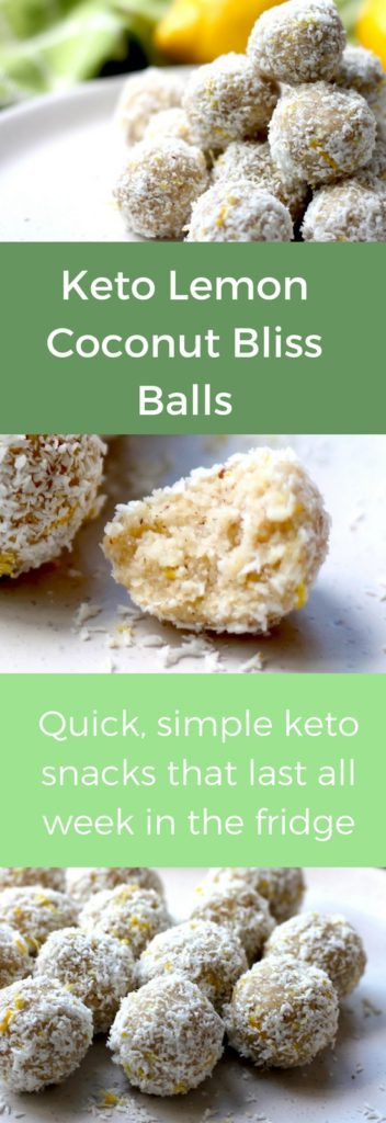 Keto Bliss Balls, Keto Lemon Bliss Balls