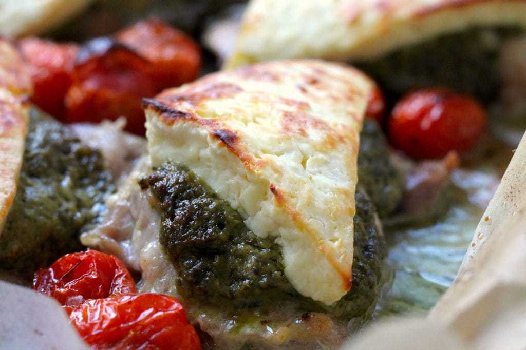 Keto Pesto Chicken Bake