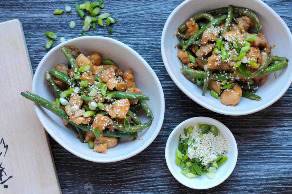 Keto Miso Chicken with Beans recipe by Aussie Keto Queen.This tasty stir fry uses the classic Japanese flavour of white miso, tossed over chicken thighs and beans for the ultimate quick and easy stir fry.