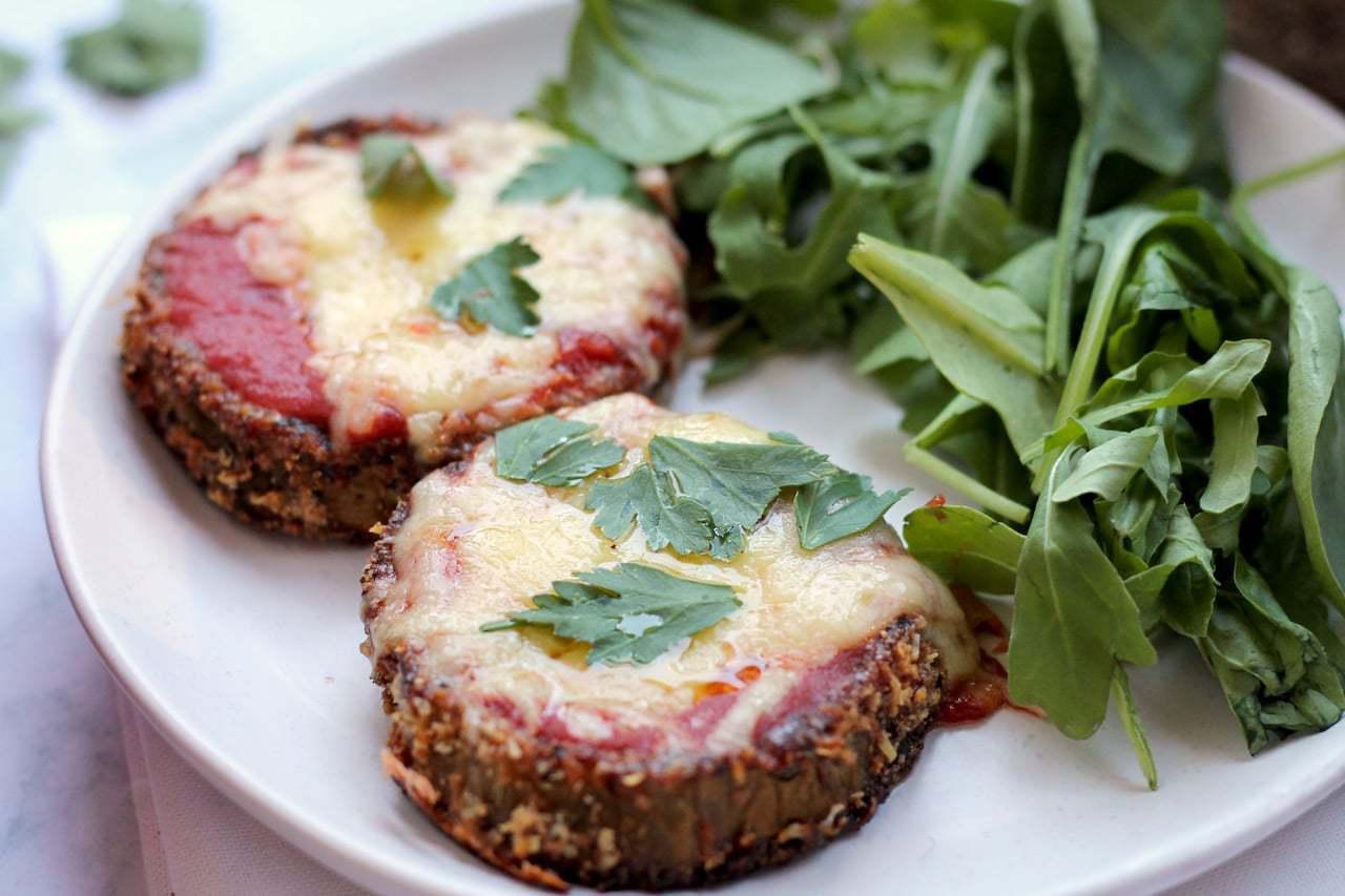 Keto Vegetarian Eggplant Parmesan / Parma / Parmy