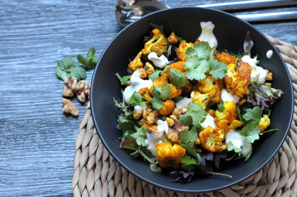 Keto Cauliflower Salad with Turmeric and walnuts recipe by Aussie Keto Queen. Keto Cauliflower Salad makes the most of it, with crispy roasted cauliflower tossed in vibrant orange turmeric.