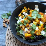 Keto Cauliflower Salad with Turmeric and walnuts