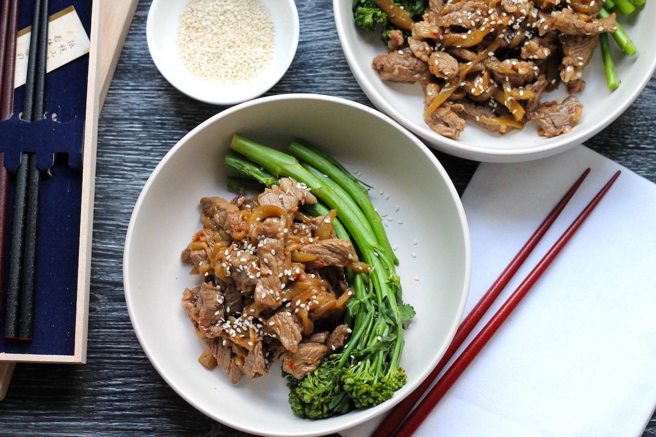 Keto Steak Stir Fry with Eggplant