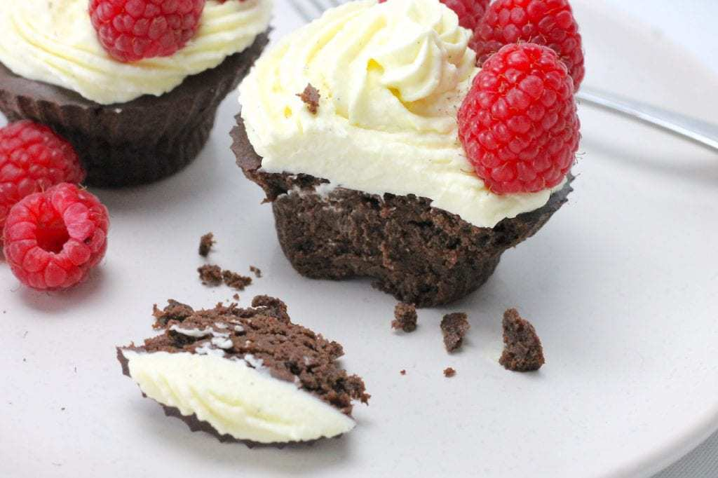 These Keto Chocolate Mud Cake Muffins are delectable rich, luxurious and taste like a real Keto treat. Easy to make too, this one pan keto dessert is quick to whip up! #keto #ketorecipe #ketodessert #ketotreat