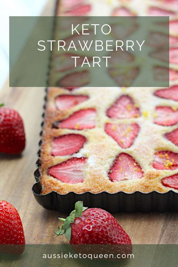 This Easy Keto Strawberry Tart is simple to make but looks impressive! The perfect simple Keto dessert ready in only 30 minutes. #keto #ketodessert #ketorecipes