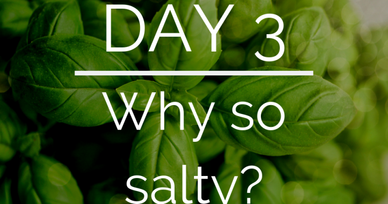 Day 3 of the 21 Day Keto Challenge – Electrolytes