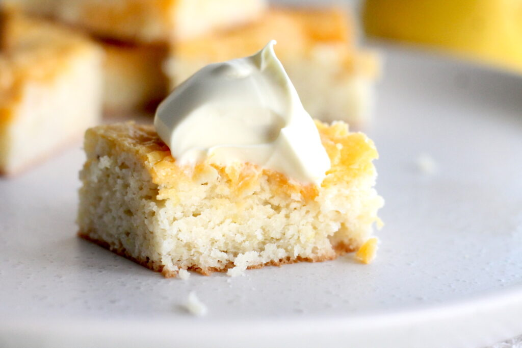 Keto Lemon Curd Cake is tangy, luscious and decadent and a great low carb afternoon treat or dessert!