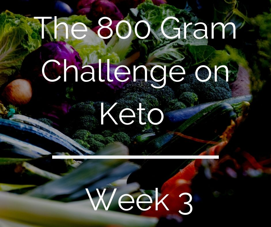 800 Gram Challenge On Keto – Week 3 (and week 2 review)
