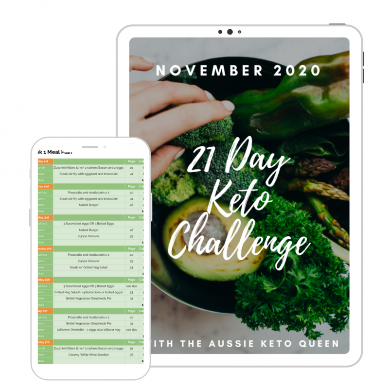 21 Day Keto Challenge November 2020 Cover