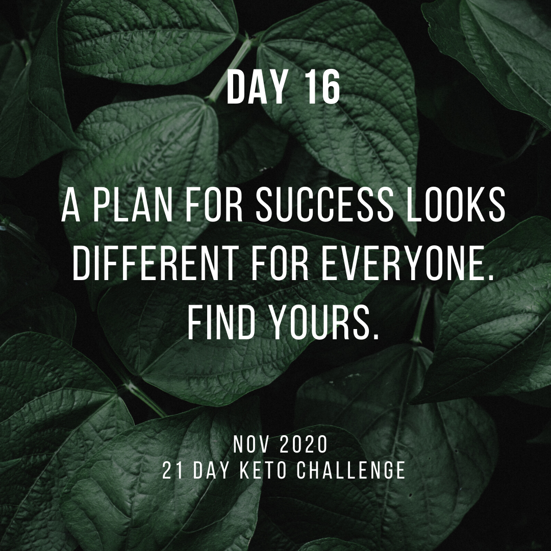 Day 16 of the 21 Day Keto Challenge November 2020