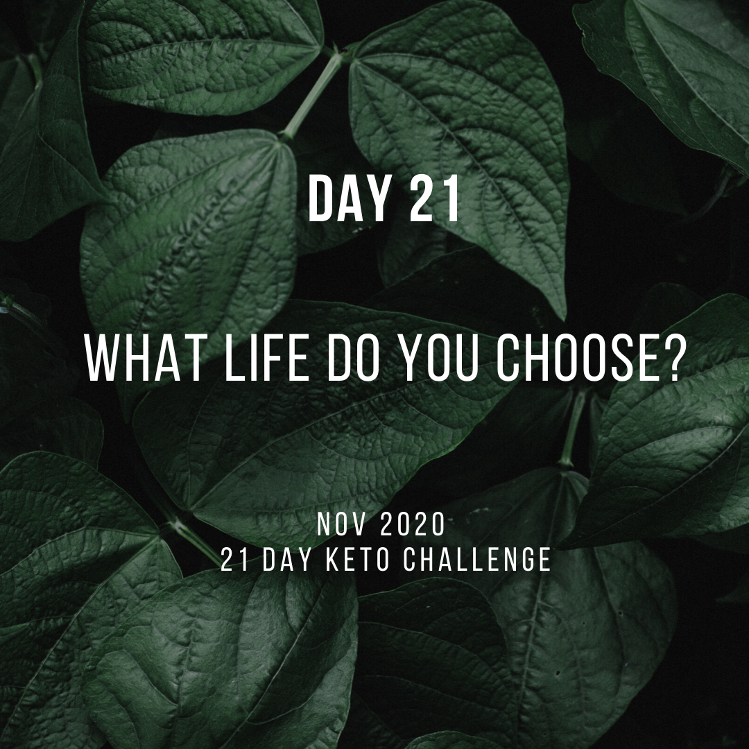 Day 21 of the 21 Day Keto Challenge November 2020