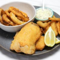 Keto Fish and Chips is real and SO delicious! Forget almond flour crumbs, this fried batter is like the real thing: crispy, flakey and KETO! by Rachel Burke Aussie Keto Queen