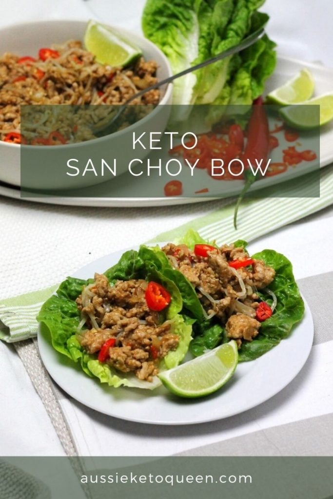Keto San Choy Bow is an easy, weeknight Keto meal with tasty chinese flavours! Bring this into your Keto dinner rotation to keep the whole family happy.