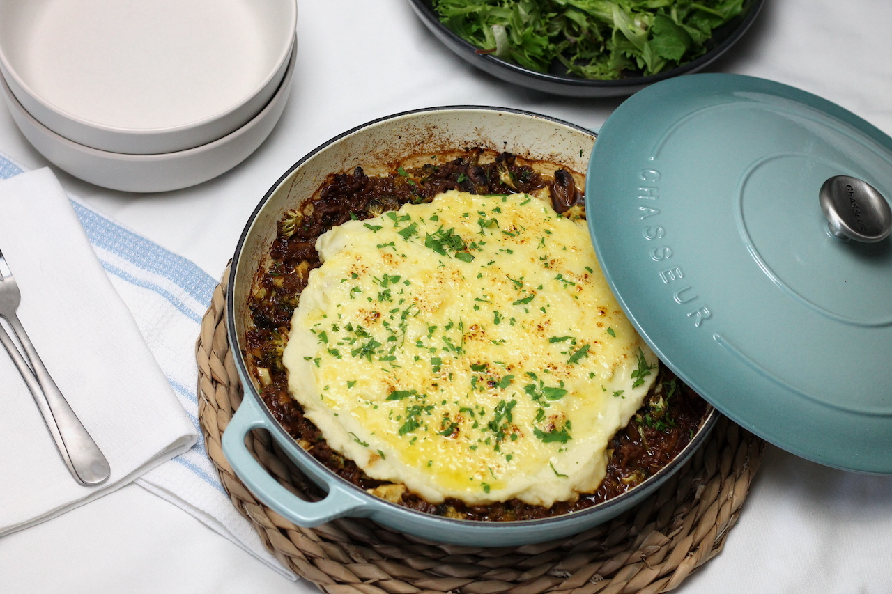 Keto Shepherds Pie Featuring the Chasseur Casserole Dish