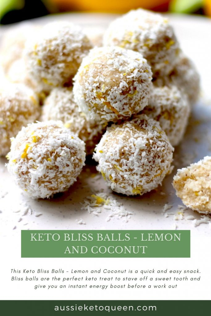 Keto Bliss Balls – Lemon and Coconut by Aussie Keto Queen. A quick and easy snack, bliss balls are the perfect keto treat to stave off a sweet tooth and give you an instant energy boost before a work out