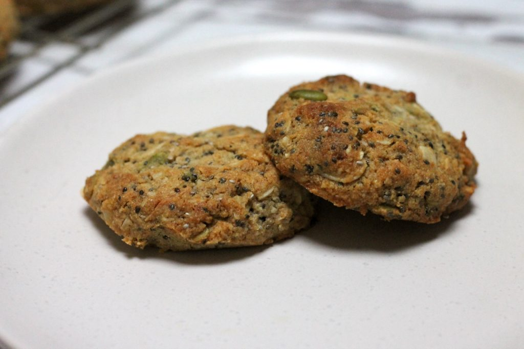 Keto Breakfast Cookies by Aussie Keto Queen. The perfect Keto Breakfast, these Keto Breakfast Cookies store well for weeks in the fridge ready for you to grab and go! A great afternoon snack, dessert or breakfast, these Keto Breakfast cookies are also easy to whip up and use up any scraps of nuts and seeds you have.