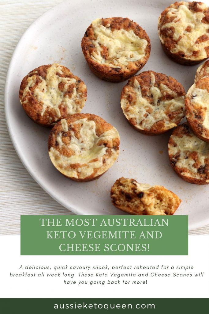 The Most Australian Keto Vegemite and Cheese Scones!  by Aussie Keto Queen is a delicious, quick savoury snack, perfect reheated for a simple breakfast all week long. These Keto Vegemite and Cheese Scones will have you going back for more!Keto Vegemite and Cheese Scones are the perfect savoury snack on the keto diet! They taste just like Vegemite on toast and are a simple and easy keto snack, great for lunches. #ketosnacks #easyketo #ketorecipes