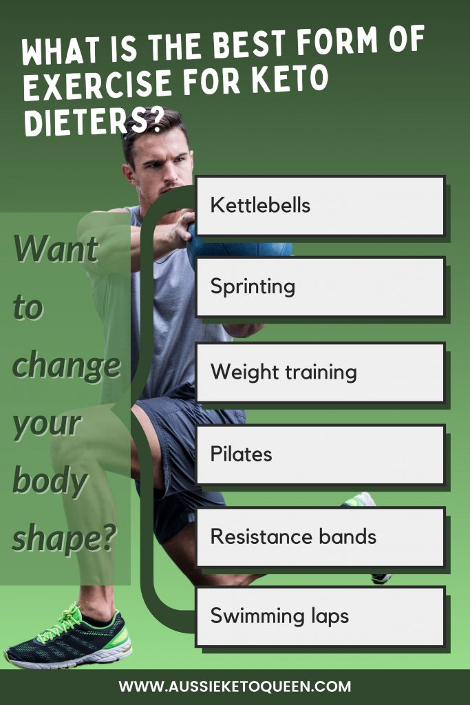 If your Keto goal is changing your body shape, exercises to build muscle are important and help improve metabolism: