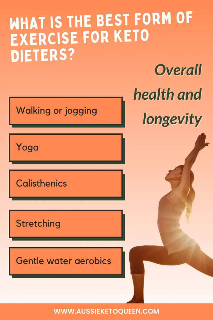 If your goal is overall health and longevity, you can take it a little lighter with;